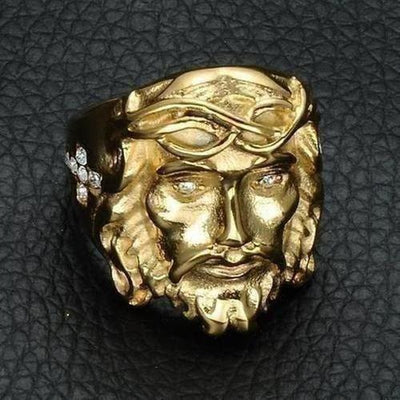 Stainless Steel Jesus Ring - The Divine Bazaar