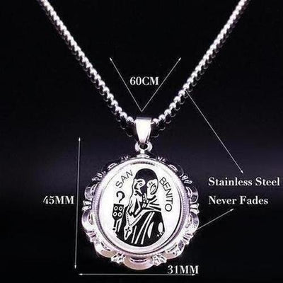 The Virgin Mary Jesus Stainless Steel Necklace for Women Multiple Styles - The Divine Bazaar