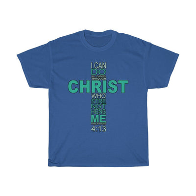 Unisex Heavy Cotton Tee - I Can Do All Things Through Christ Who Strengthens Me