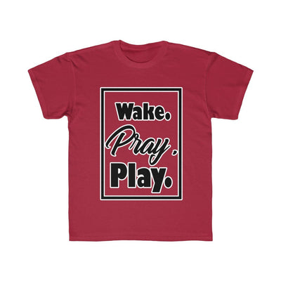 Wake. Pray. Play. (Kids Regular Fit Tee)