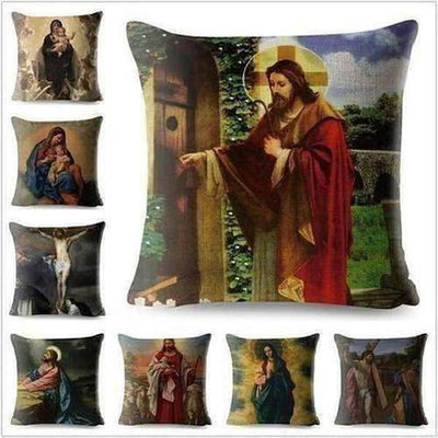 Watercolor painting Christian Yahushua Pillow Case - The Divine Bazaar