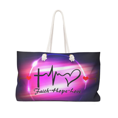 Weekender Bag -Faith Hope and Love
