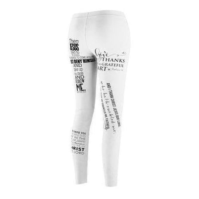 Women's Cut & Sew Bible Verse Casual Leggings - The Divine Bazaar