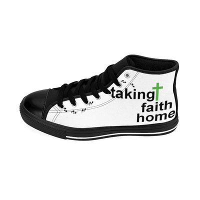 Women's High-top Sneakers- Taking Faith