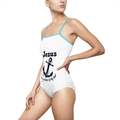 Women's One-piece Swimsuit- Jesus the anchor of my soul