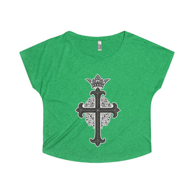Crowned Cross - Women's Tri-Blend Dolman