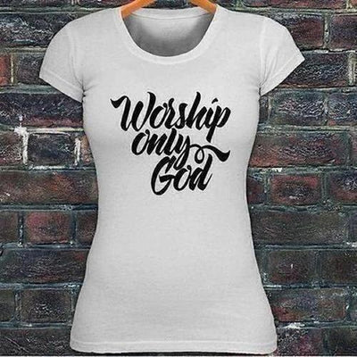 Worship Only God Faith Prayer T-shirt - The Divine Bazaar
