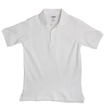 Boys White Short Sleeve Soft Knit Polo