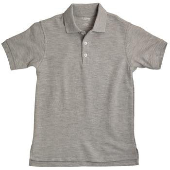 Boys Grey Short Sleeve Pique Knit Polo