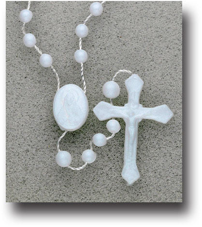 Plastic Corded Rosary - Luminous