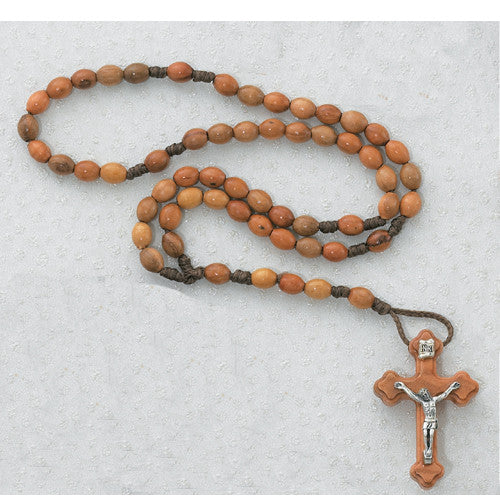 Corded Olive Wood Rosary