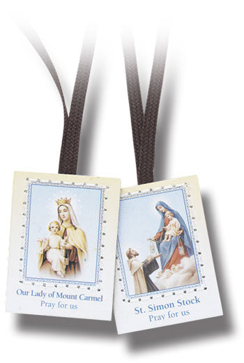 Brown Scapular with Brown Cords