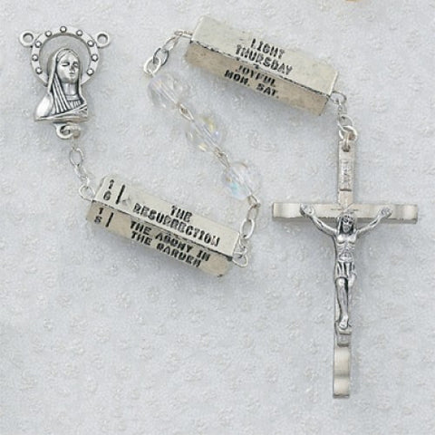 Crystal Rosary with Mysteries