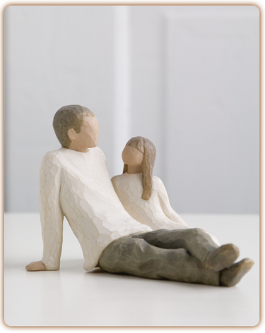 Father and Daughter - Willow Tree Figurine