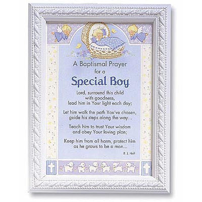 Framed Baptismal Prayer for a Special Boy