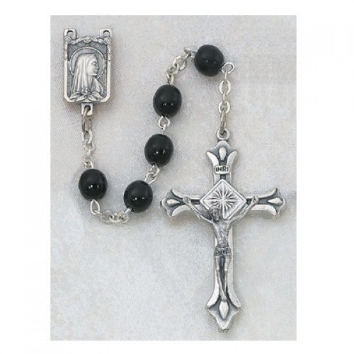 Black Glass Rosary