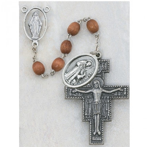 7 Decade Franciscan Wood Rosary