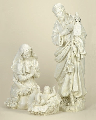 "39"" Joseph Studio Outdoor Nativity Set - White"
