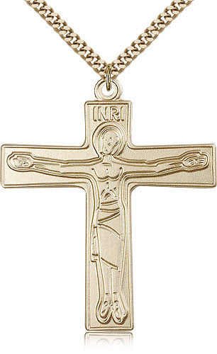 Gold Filled Cursillo Cross Medal with Chain Pendant