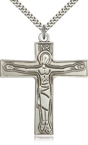 Sterling Silver Cursillio Cross Medal with Chain Pendant