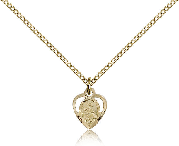 Gold Filled Our Lady of La Salette Medal with Chain Pendant