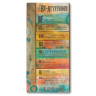 "Teen ""Be-Attitudes"" Plaque"