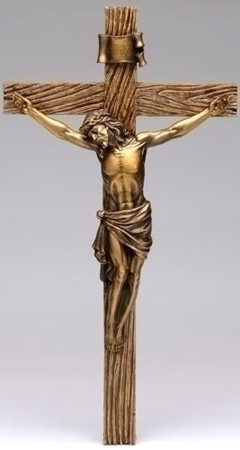 Antique Gold Crucifix