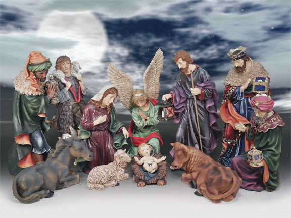 "34"" Nativity Set - Colored"