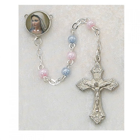 Pink and Blue Rosary