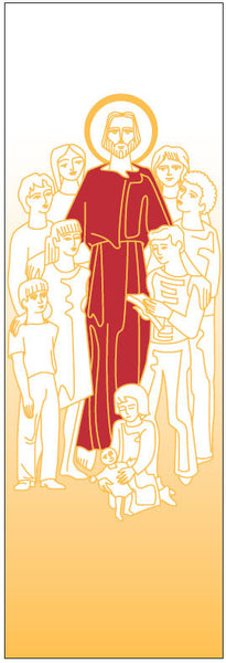 Jesus with Children Banner