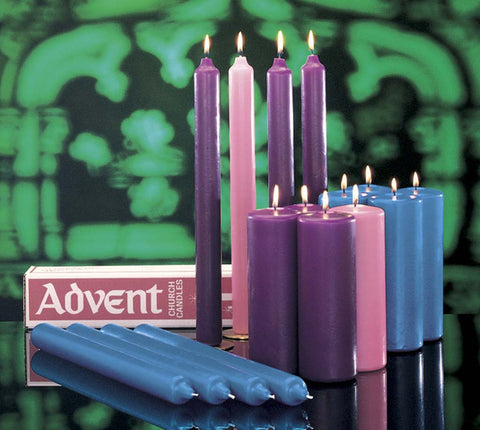 Advent Pillar Candles