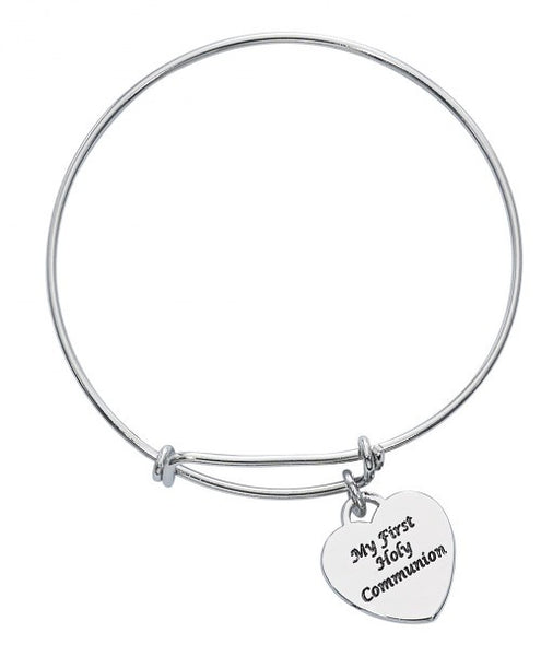 First Communion Bangle Bracelet