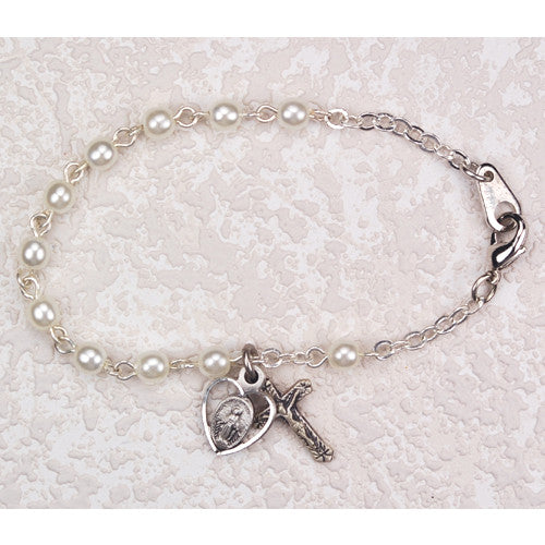 "6.5"" Pearl First Communion Bracelet"