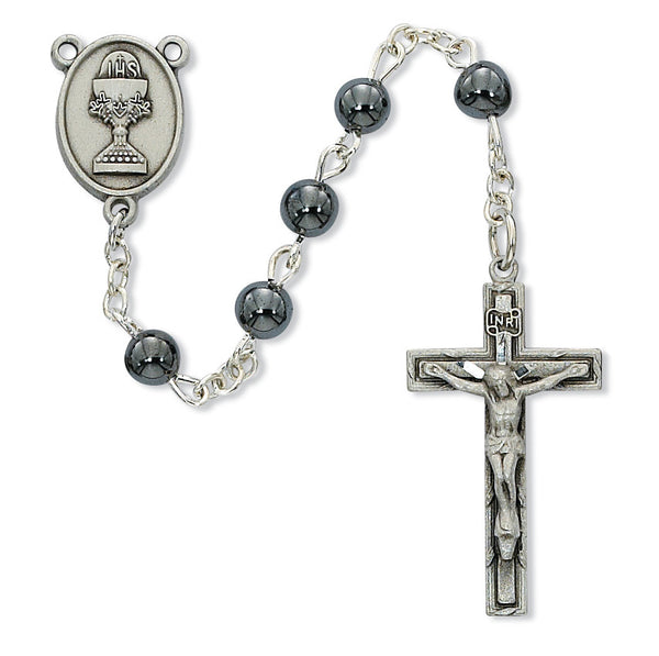 Hematite First Communion Rosary