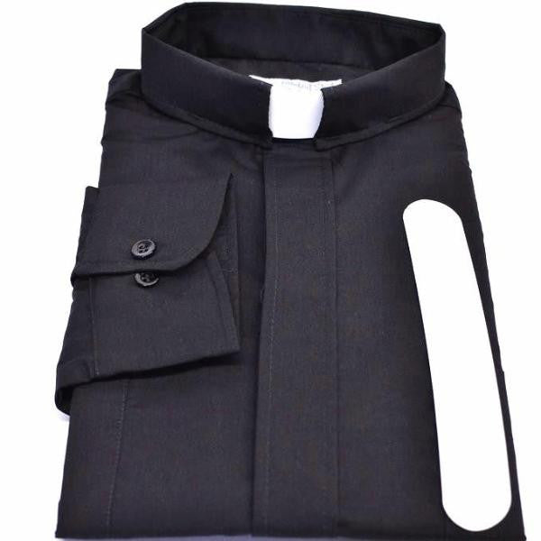 Tab Collar Long Sleeve Clergy Shirts Traditional Colors
