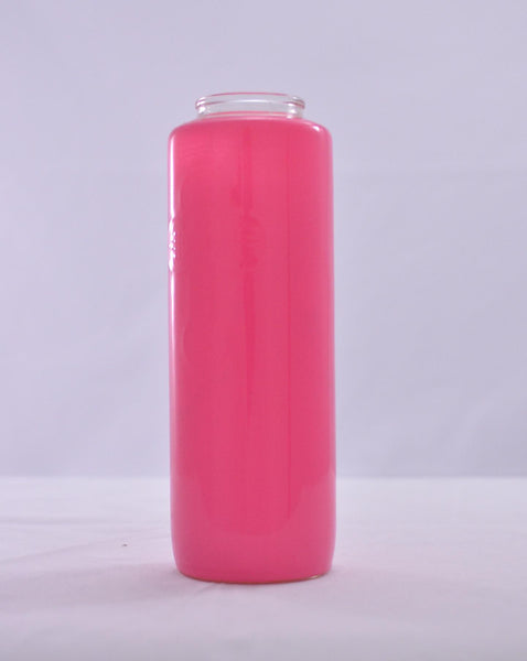 Glass Offering Candles - 6 Day Frost Pink