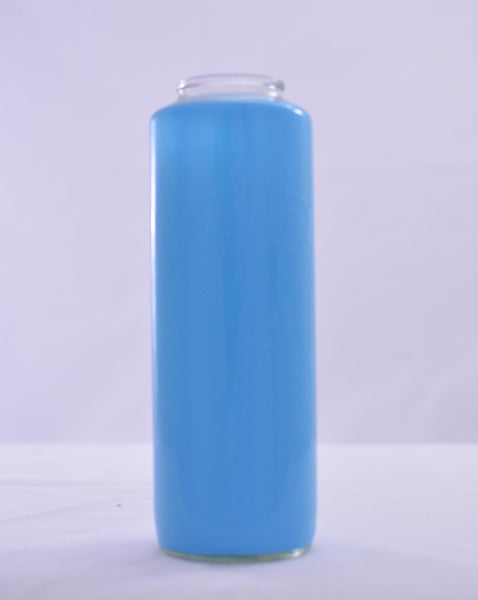 Glass Offering Candles - 6 Day Marian Blue