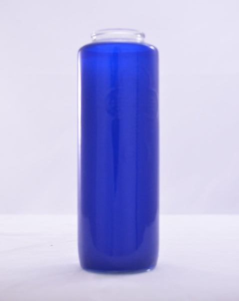 Glass Offering Candles - 6 Day Blue