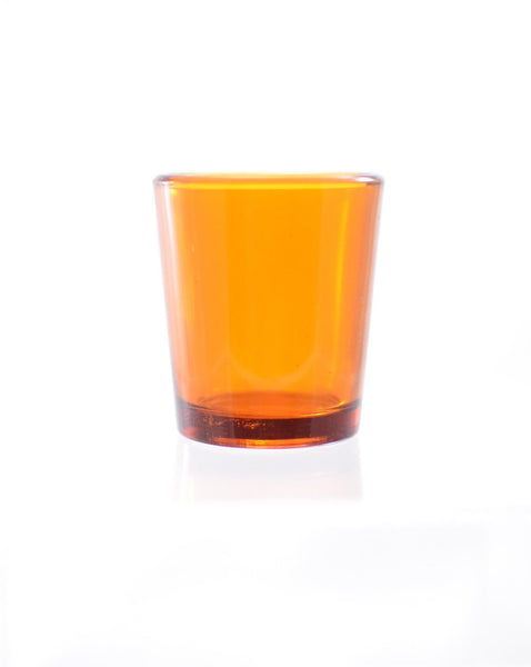 Hourly Votive Glass - Amber