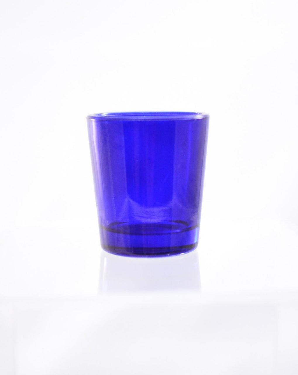 Hourly Votive Glass - Blue
