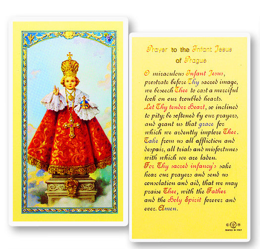 Infant of Prague Holy Card