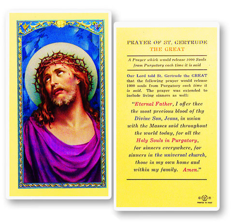 Prayer of Saint Gertrude the Great Holy Card