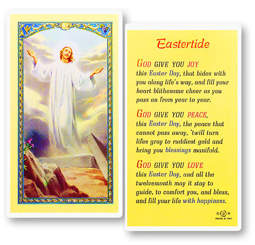 Eastertide Resurrection Holy Card