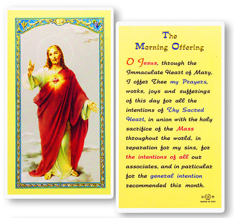 The Morning Offering Holy Card