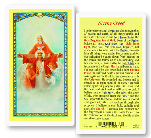 Nicene Creed Holy Card