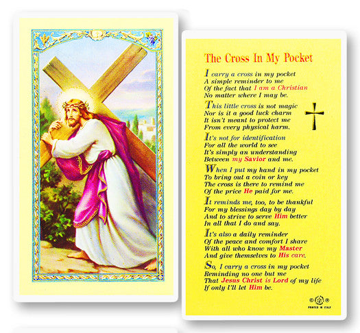 Cross in My Pocket Holy Card