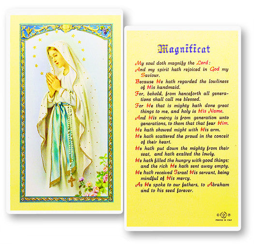 Magnificat - Our Lady of Lourdes Holy Card
