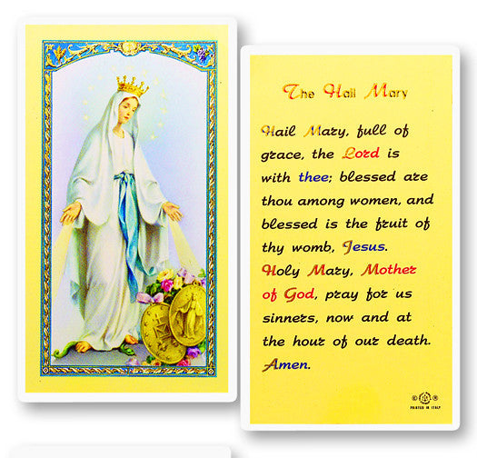 Lovely Lady Dressed in Blue Holy Card