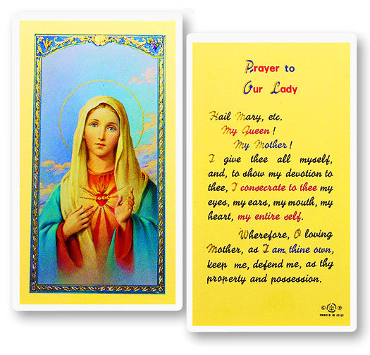 Our Lady - Immaculate Heart of Mary Holy Card
