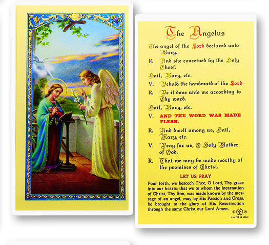 Angelus Prayer - Annunciation Holy Card